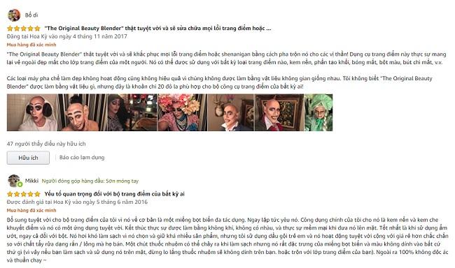 Review mút trang điểm Beauty Blender