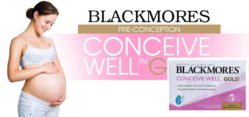 Viên uống Blackmores conceive well gold cho nữ của Úc giúp chăm sóc sức khỏe toàn diện cho mẹ và bé