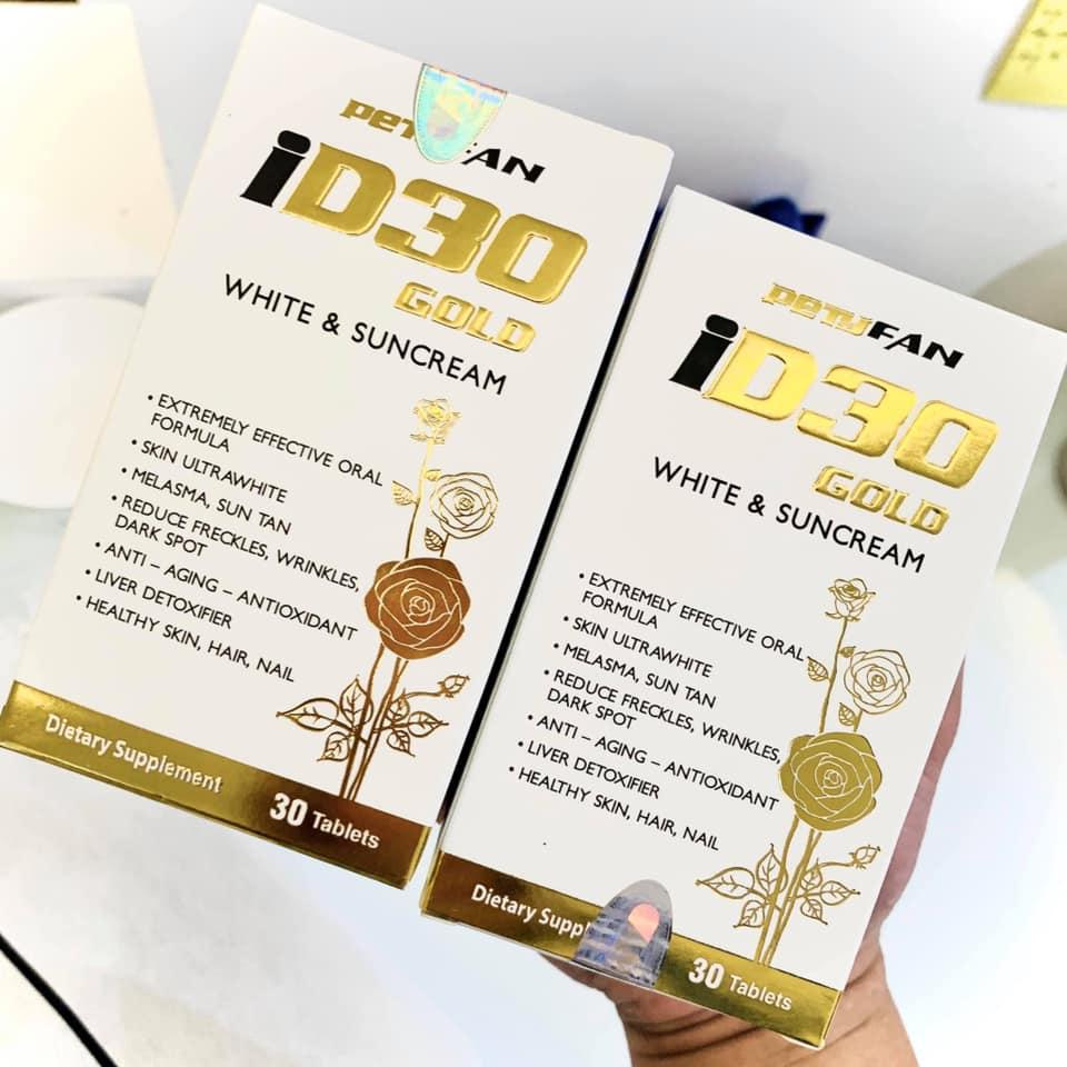Viên uống chống nắng trắng da ID30 Gold White