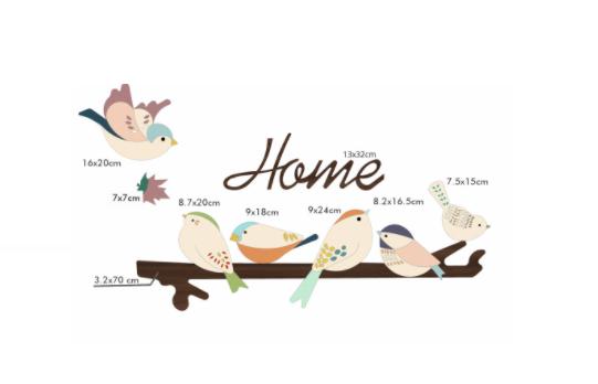 Bộ decal dán tường Happy Birds