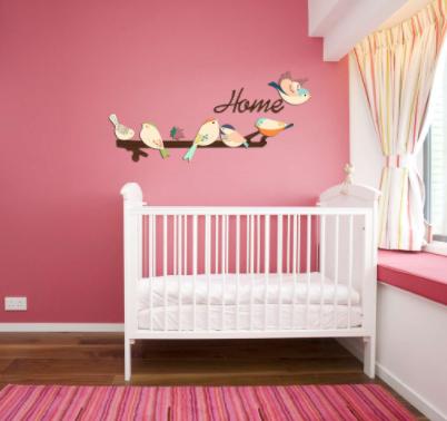Bộ decal dán tường Happy Birds trang trí phòng ngủ