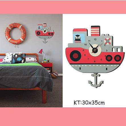 Đồng hồ gắn tường trang trí trang trí phòng cho bé tiện lơị