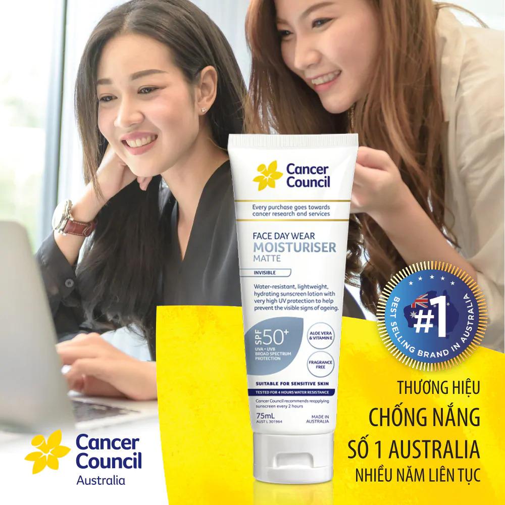 Kem chống nắng  Cancer Council Face Day Moisturizer bảo vệ và dưỡng ẩm da