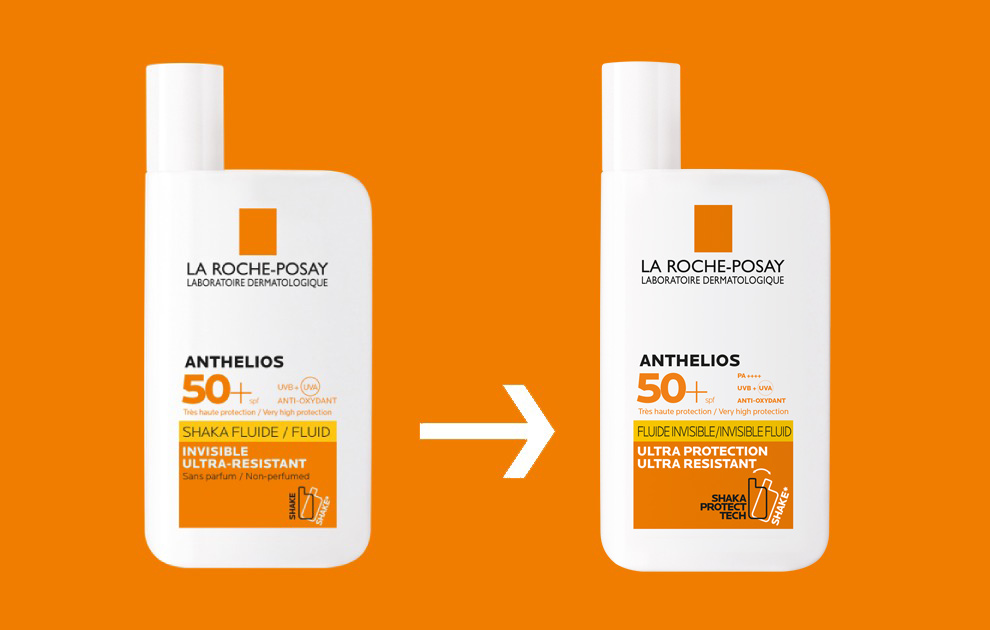Thay đổi mẫu mã Kem chống nắng dạng sữa La Roche-Posay Anthelios Fluide Invisible SPF 50+