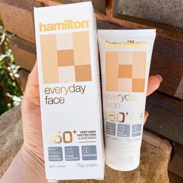 Kem chống nắng nội địa Úc Hamilton SPF 50+ bảo vệ da toàn diện, hàng nội địa Úc