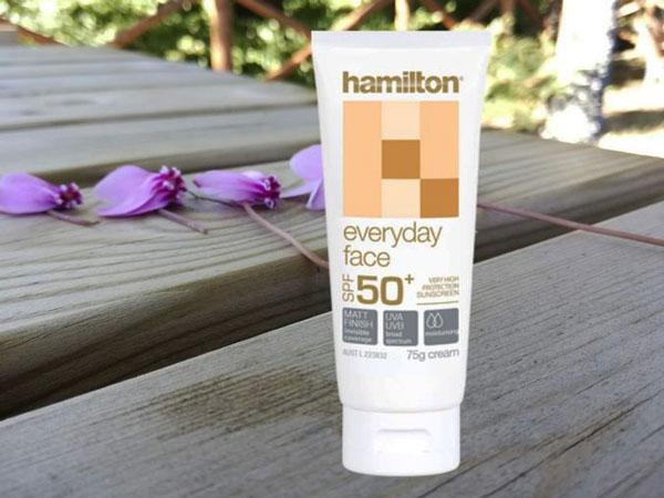 Kem chống nắng nội địa Úc Hamilton SPF 50+ phù hợp với nhiều loại da
