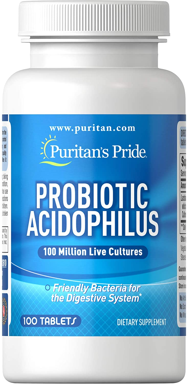 Men vi sinh Probiotic Acidophilus Puritan's Pride 100 viên