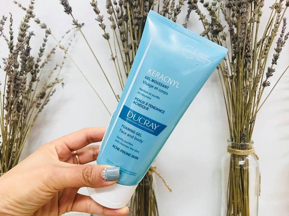 Sữa rửa mặt dạng gel Ducray Keracnyl hỗ trợ chăm sóc da mềm mại, tự nhiên