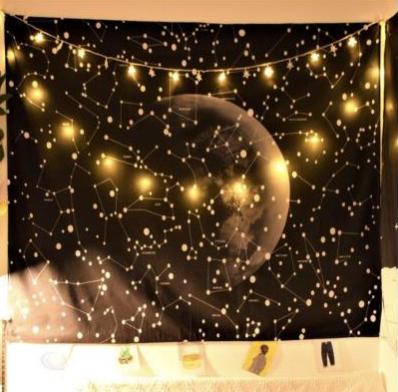 Tranh vải decor hình Galaxy