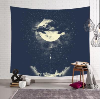 Tranh vải decor hình Leo trăng