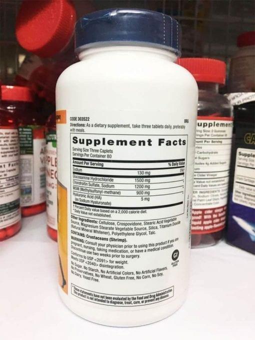 Thành phần viên uống GNC Triflex Promotes Joint Health