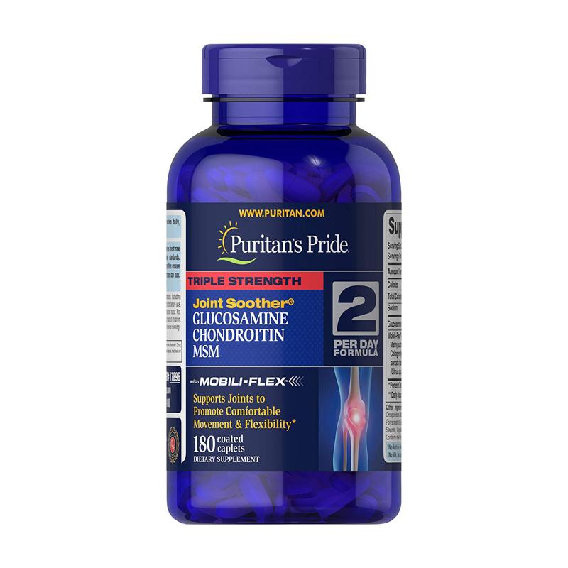 Viên uống Puritan's Pride Triple Strength Glucosamine hỗ trợ xương khớp 180 viên