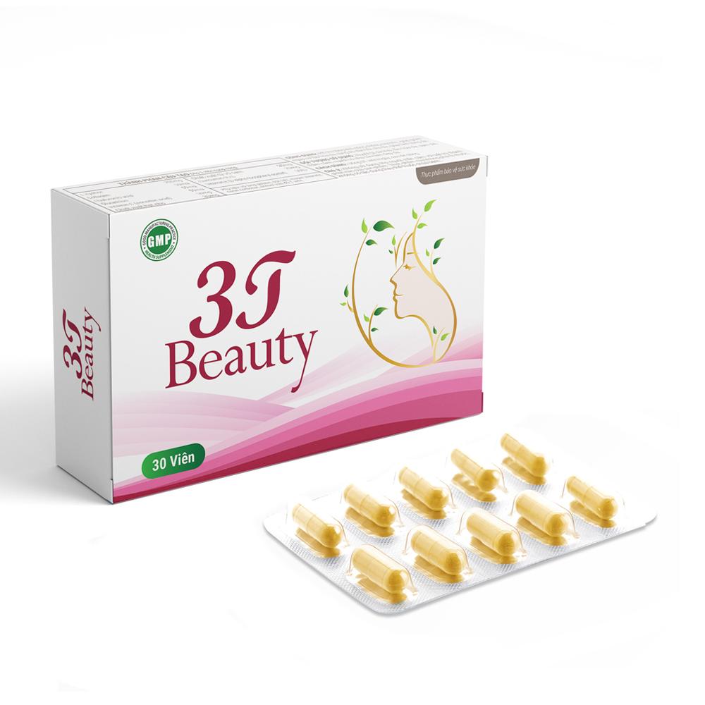 Viên uống hỗ trợ trắng da 3T Beauty
