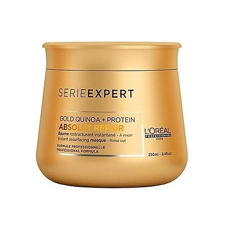 Dầu hấp tóc Loreal Serie Expert Gold Quinoa + Protein