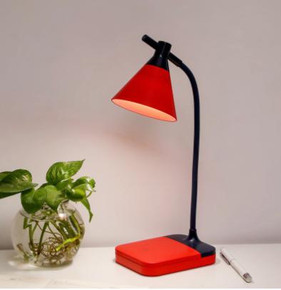Đèn Led tích điện để bàn 3 độ sáng màu đỏ