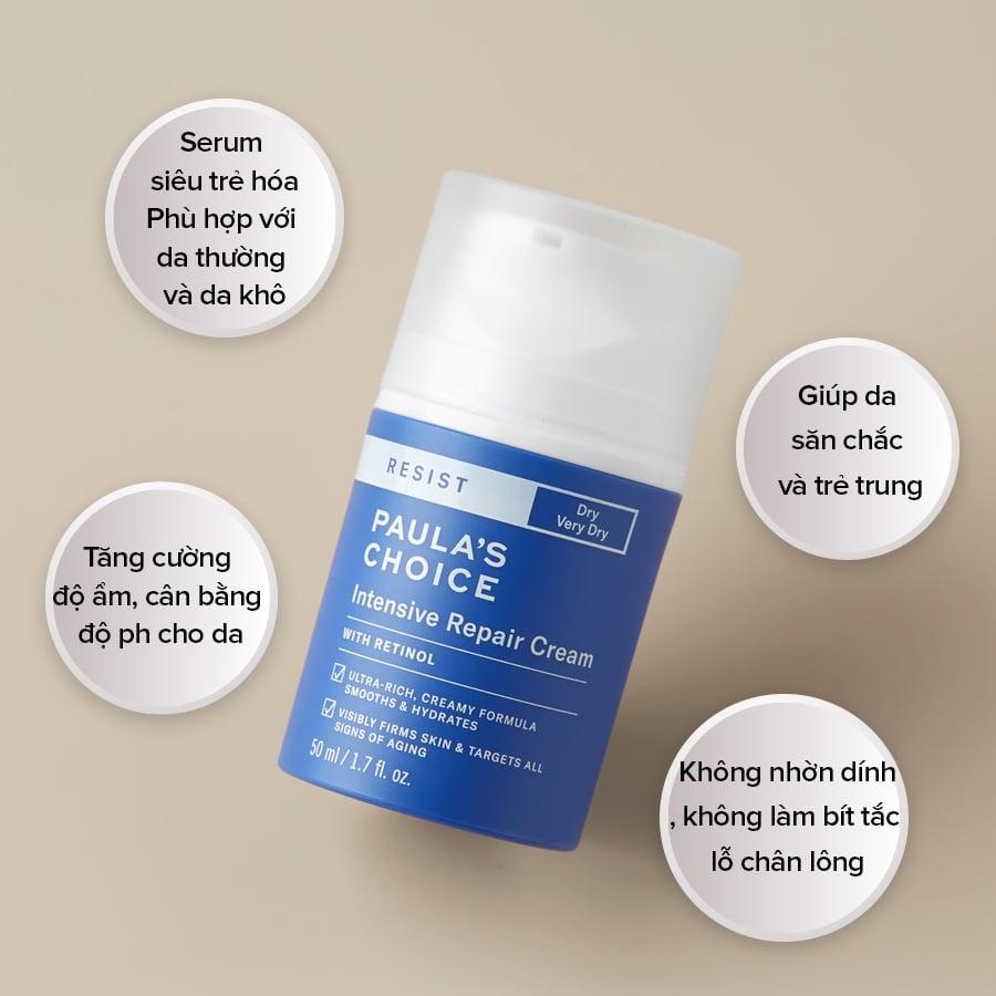 Kem phục hồi tái tạo da Paula's Choice Resist Intensive Repair Cream hỗ trợ chăm sóc da toàn diện