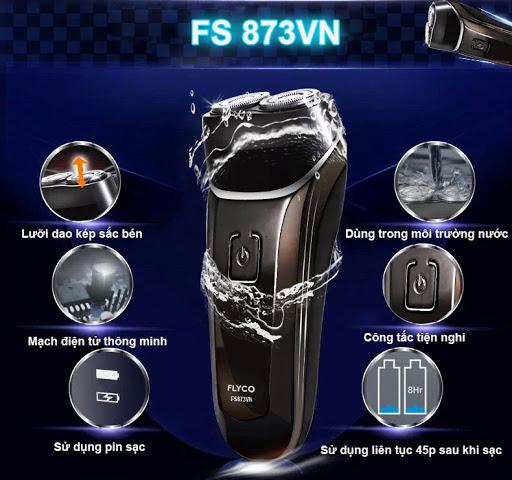 Máy cạo râu điện Flyco FS873VN  hoạt động mạnh mẽ