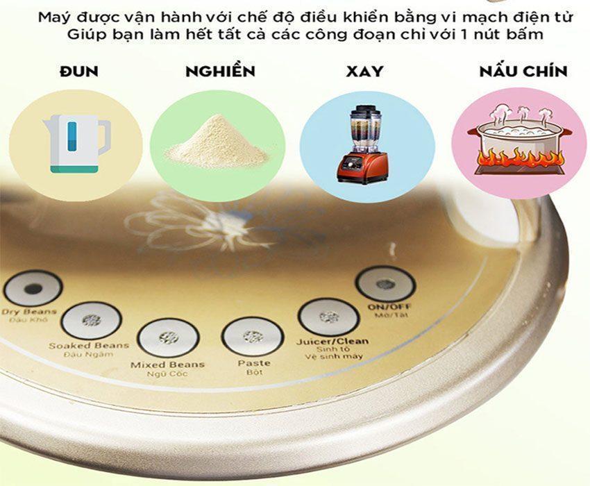 Máy làm sữa hạt đa chức năng, tối ưu hiệu quả sử dụng, làm sữa đậu nhanh