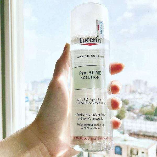 Nước tẩy trang Eucerin Pro Acne chăm sóc da mụn hiệu quả