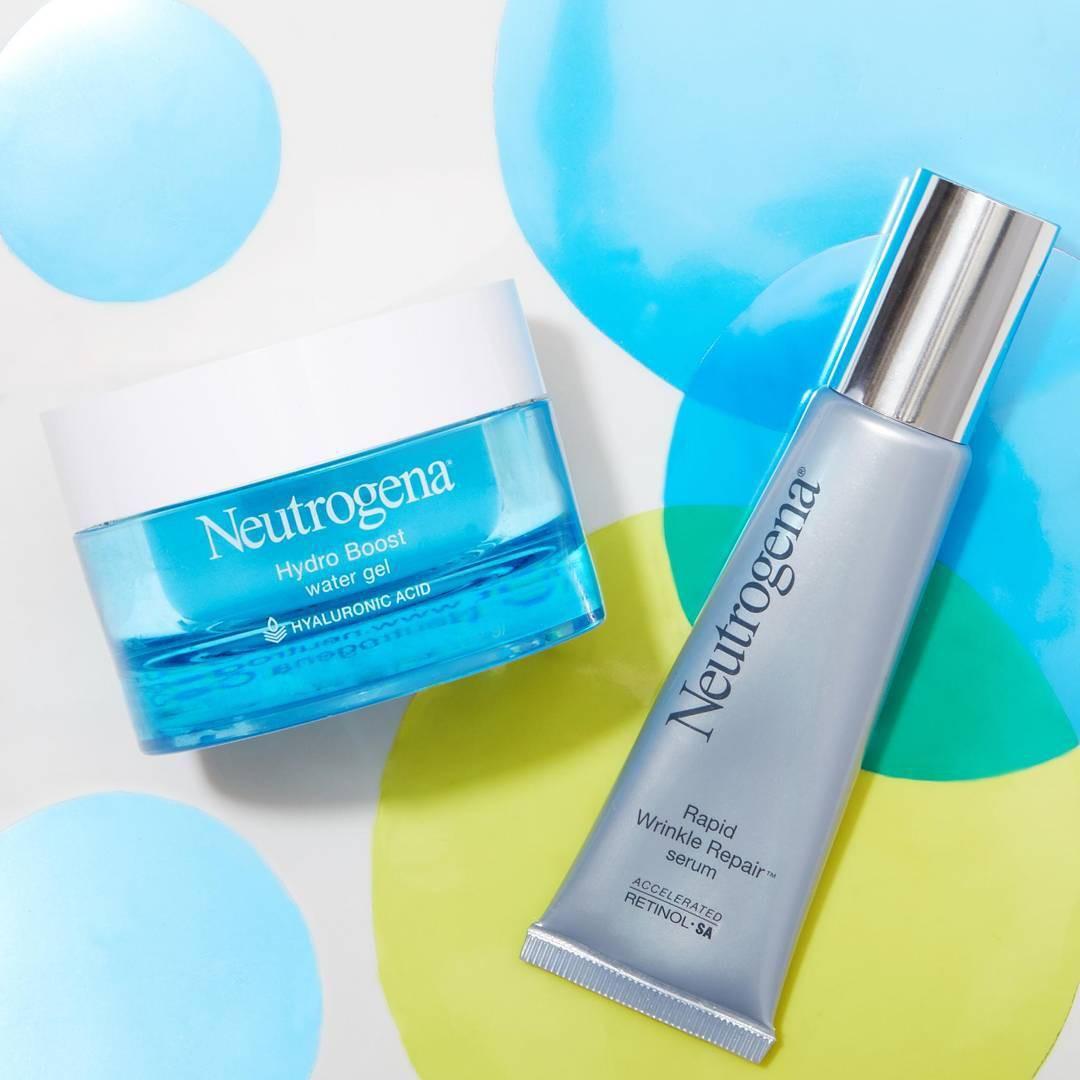 Serum Neutrogena Rapid Wrinkle Repair Anti Aging cùng dưỡng ẩm Neutrogena: bộ đôi chăm sóc hoàn hảo