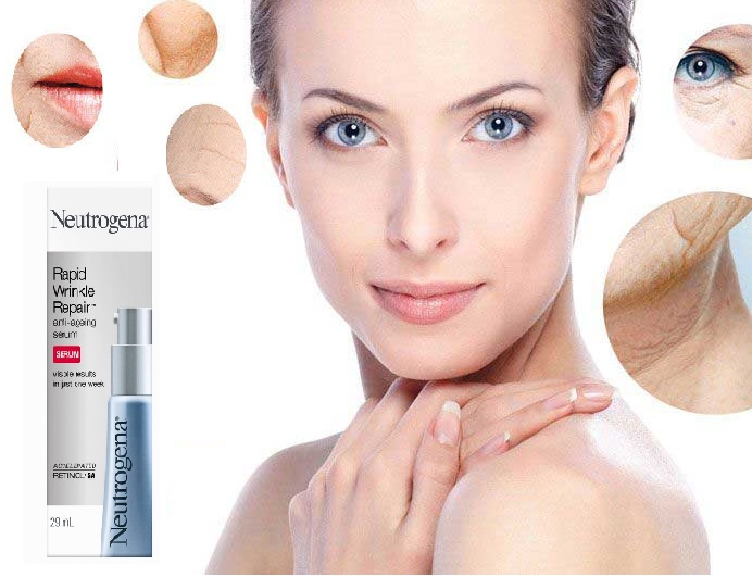 Serum Neutrogena Rapid Wrinkle Repair Anti Aging bảo vệ da toàn diện