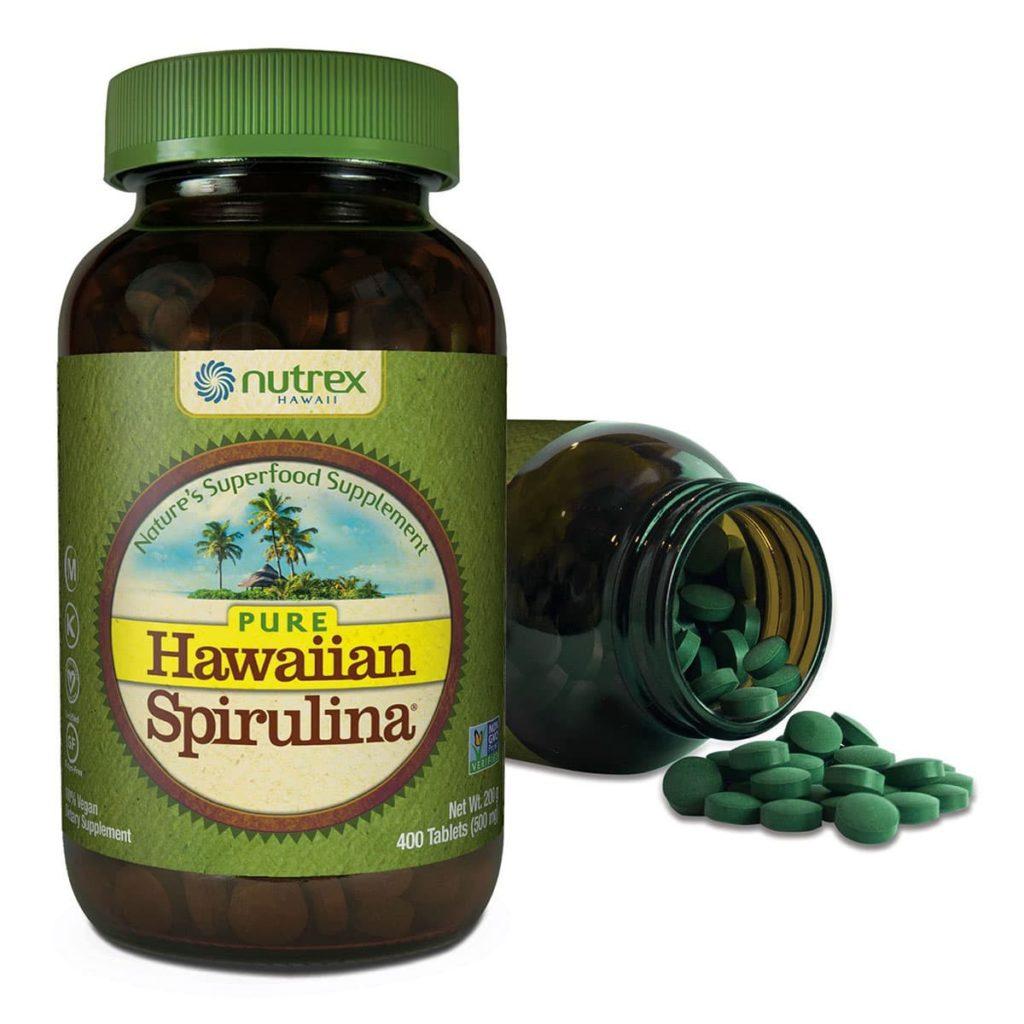 Tảo xoắn Nutrex Hawaii Hawaiian Spirulina 500mg chính hãng Mỹ