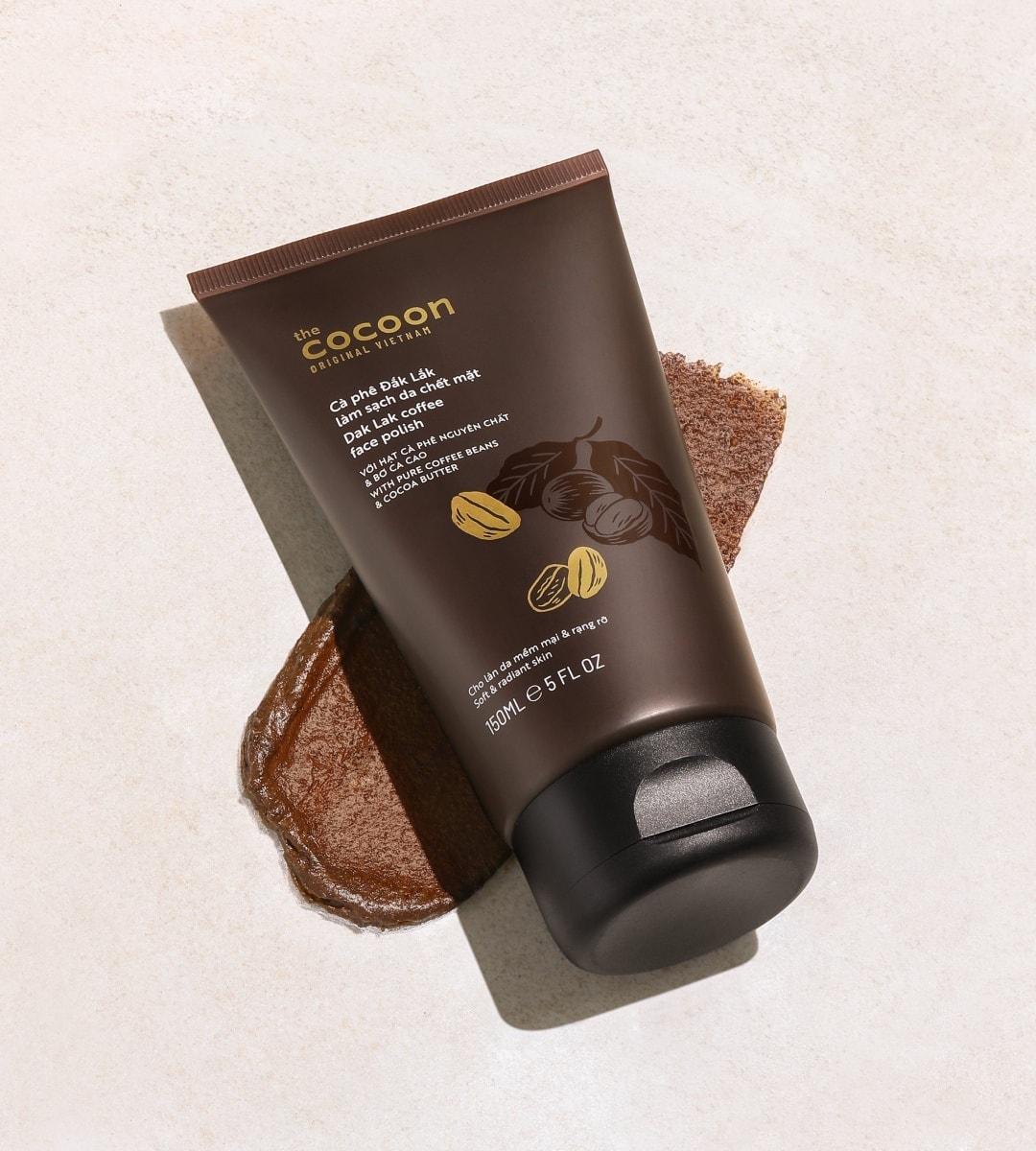 Tẩy da chết cà phê sạch mịn, bảo vệ da