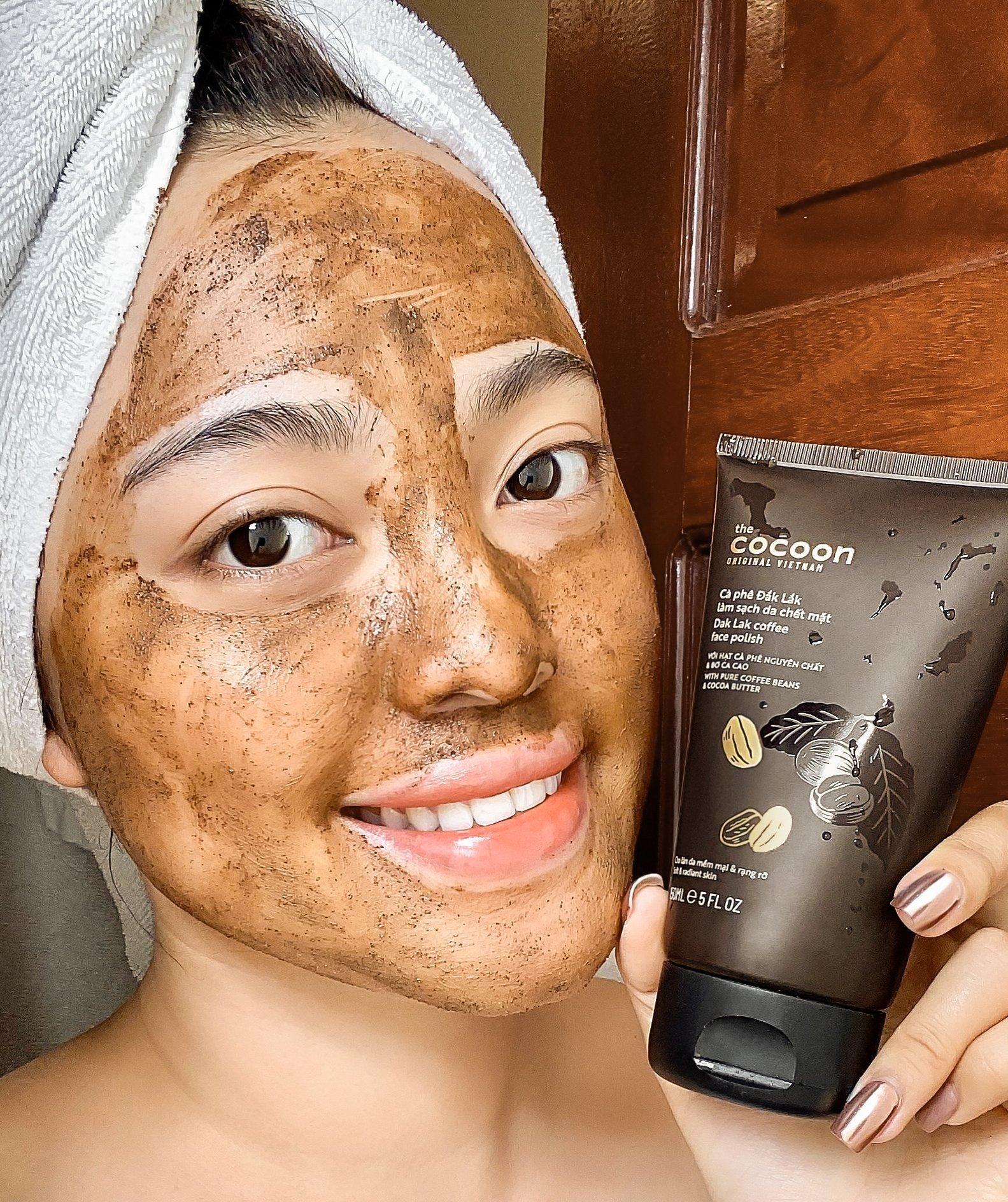 Tẩy da chết Cocoon Dak Lak Coffee Face Polish làm sạch dịu da