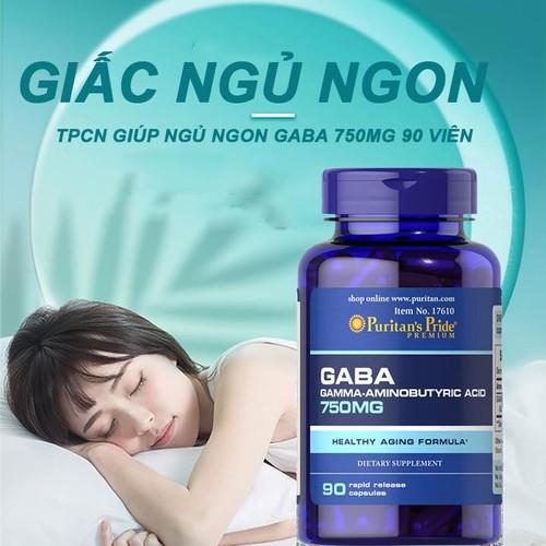 Viên uống Puritan's Pride Gaba 750mg hỗ trợ giấc ngủ
