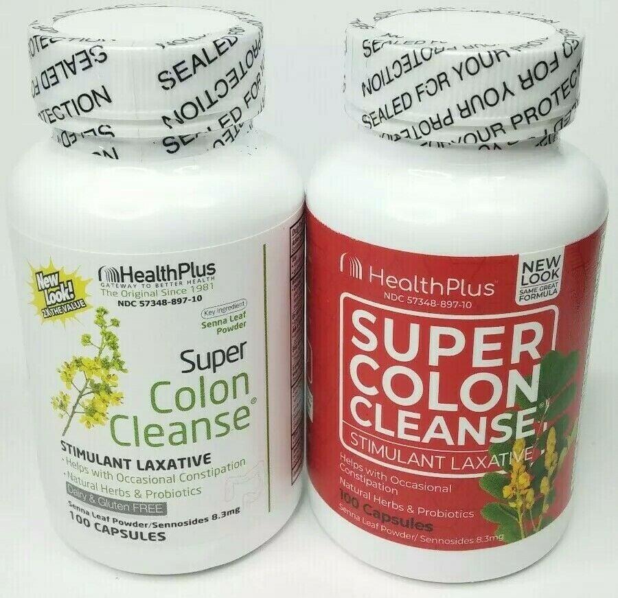 Viên uống Health Plus Super Colon Cleanse mẫu cũ - mẫu mới