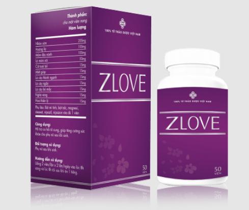 Viên uống Zlove hỗ trợ sức khỏe sinh lý nữ, se khít vùng kín