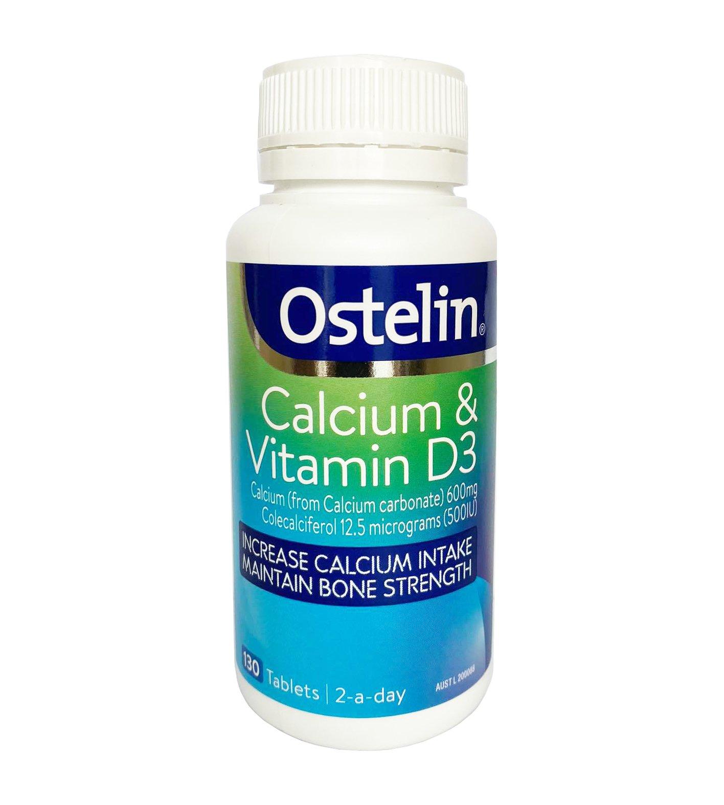 Ostelin Calcium & Vitamin D3 loại 130 viên (Mẫu mới)