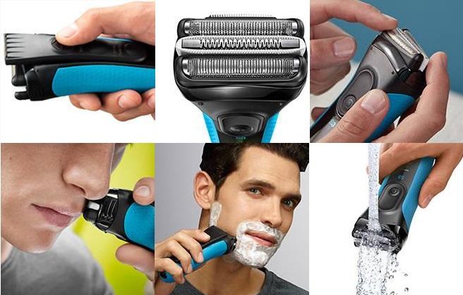 Máy cạo râu Braun Series 3 dòng cao cấp của Đức thiết kế hoàn hảo