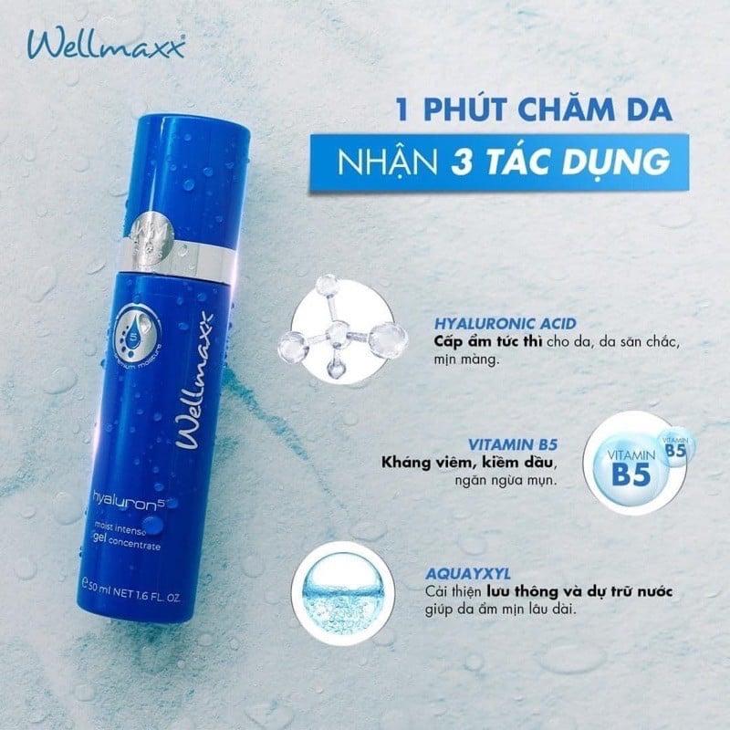 Gel dưỡng ẩm Wellmaxx Hyaluron Moist- khả năng bảo vệ da tối ưu