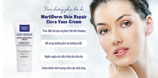 Kem dưỡng MartiDerm Skin Repair Cicra Vass Cream hỗ trợ cải thiện dấu hiệu tổn thương trên da