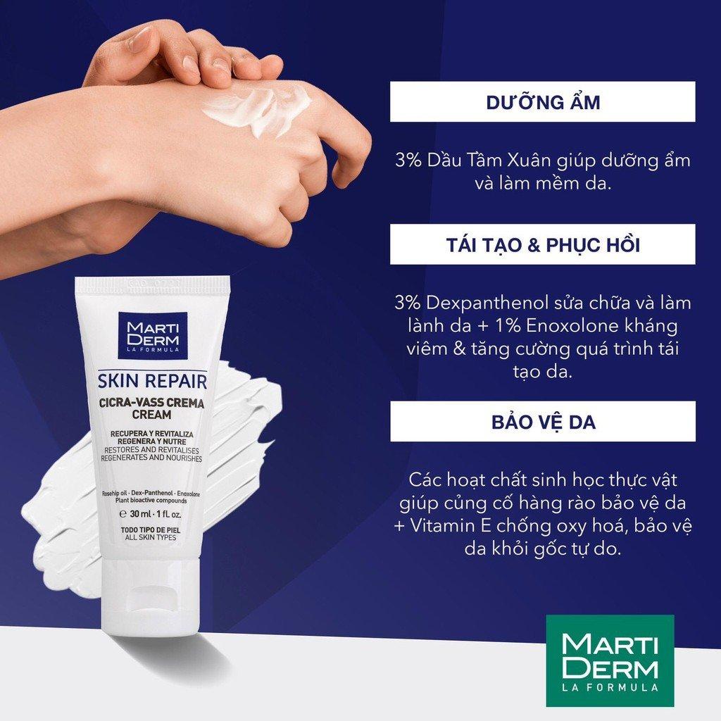Kem dưỡng MartiDerm Skin Repair Cicra Vass Cream chăm sóc da chuyên sâu