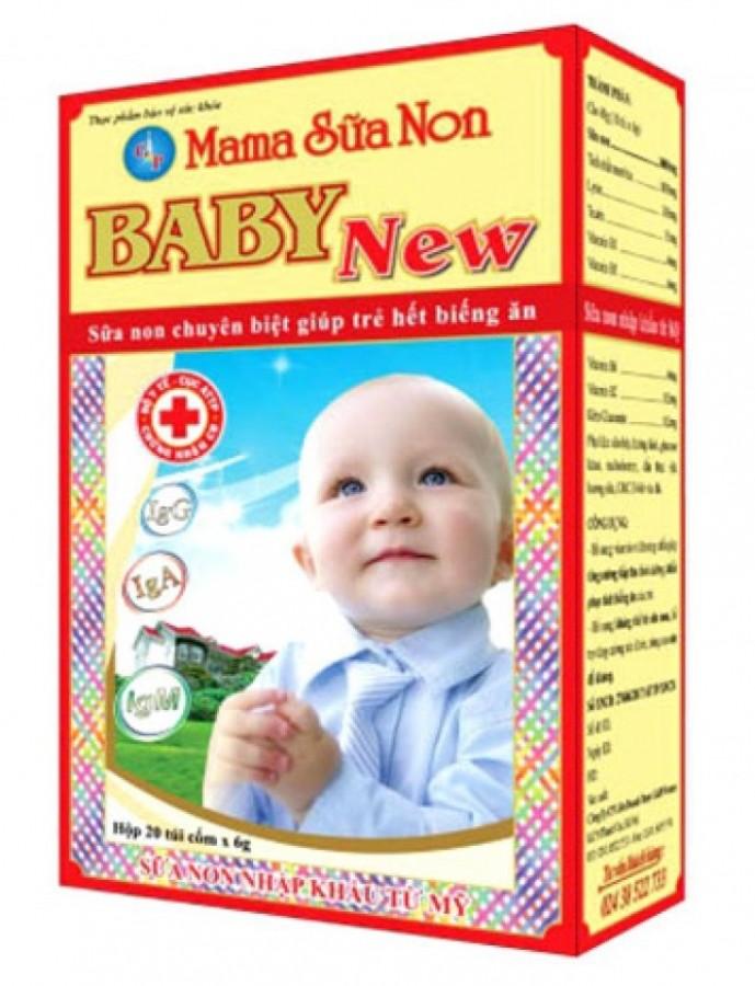 Mama Sữa Non Baby New cho trẻ biếng ăn, tăng cường sức đề kháng