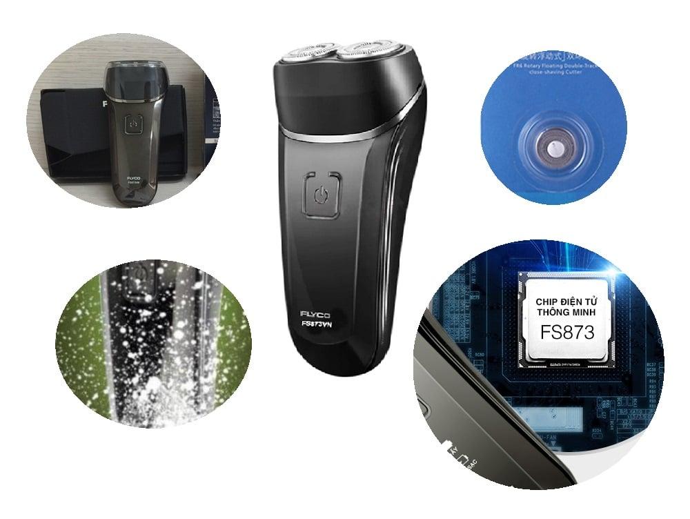 Máy cạo râu điện 2 lưỡi Flyco FS873VN hoàn hảo trong thiết kế và sử dụng