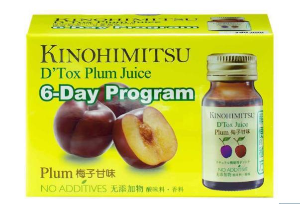 Nước uống Kinohimitsu D Tox Plum Juice (hộp 6 chai x 30ml)