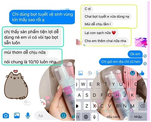 Review Dung dịch vệ sinh phụ nữ Genie