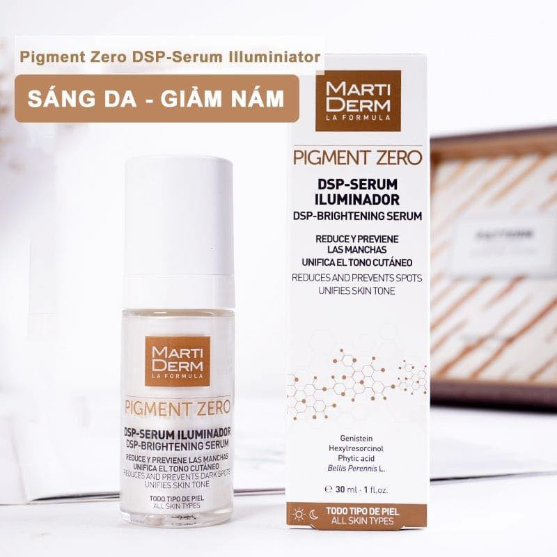 Tinh chất MartiDerm Pigment Zero DSP Serum Illuminator chính hãng
