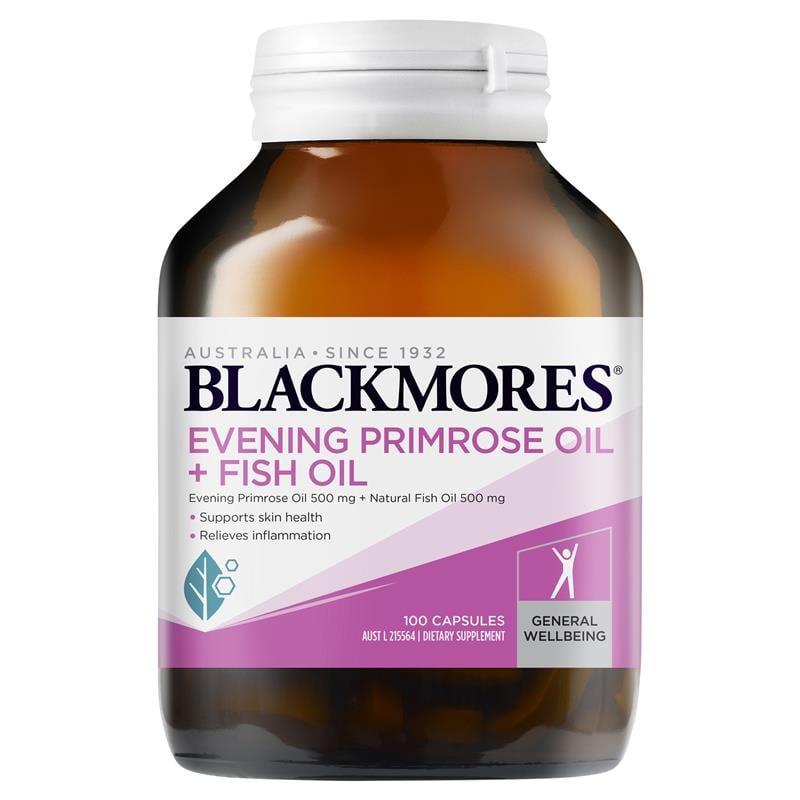 Tinh dầu hoa anh thảo kết hợp dầu cá Blackmores Evening Primrose Oil + Fish Oil