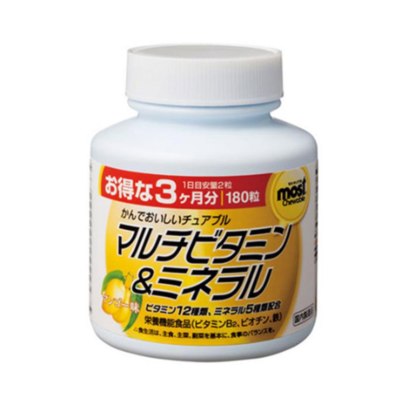 Viên nhai bổ sung vitamin, khoáng chất Orihiro Most Chewable vị xoài