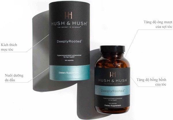 Viên uống Hush & Hush Deeply Rooted giúp tóc mọc dày, khỏe