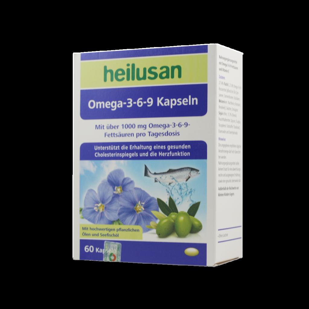 Viên uống Heilusan Omega-3-6-9 Kapseln hỗ trợ sức khỏe toàn diện