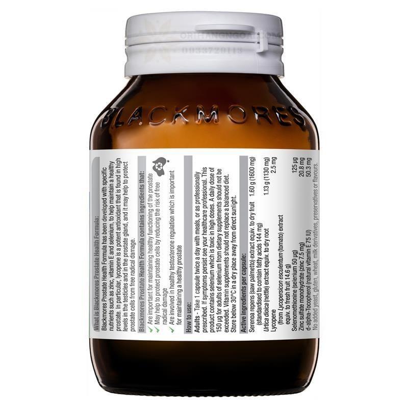 Viên uống Blackmores Prostate Health Formula hàng chuẩn Úc