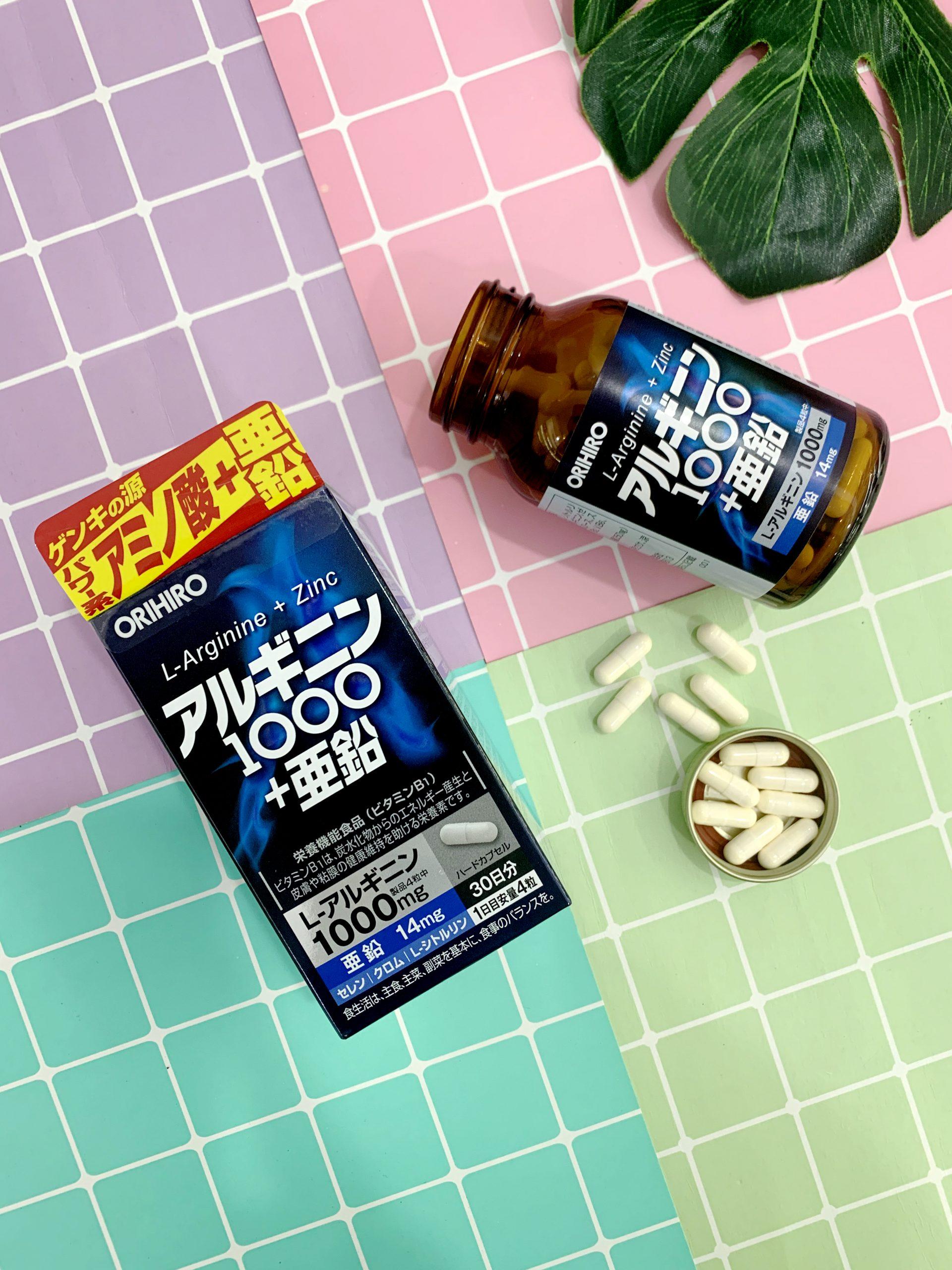 Viên uống Orihiro L-Arginine 1000mg Và Zinc hỗ trợ sức khỏe sinh lý nam hiệu quả