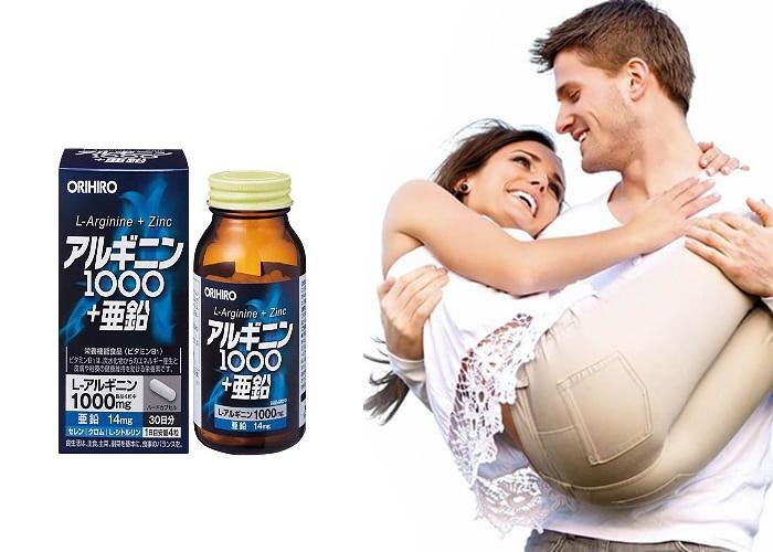 Viên uống Orihiro L-Arginine 1000mg Và Zinc hỗ trợ cuộc sống vợ chồng