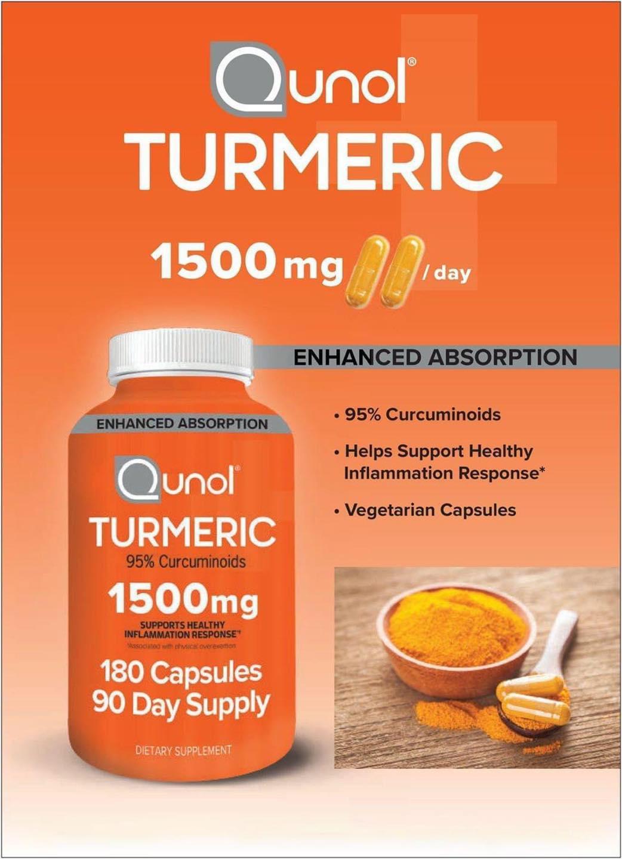 Viên uống tinh chất nghệ Qunol Turmeric 1500mg 180 viên chính hãng của Mỹ