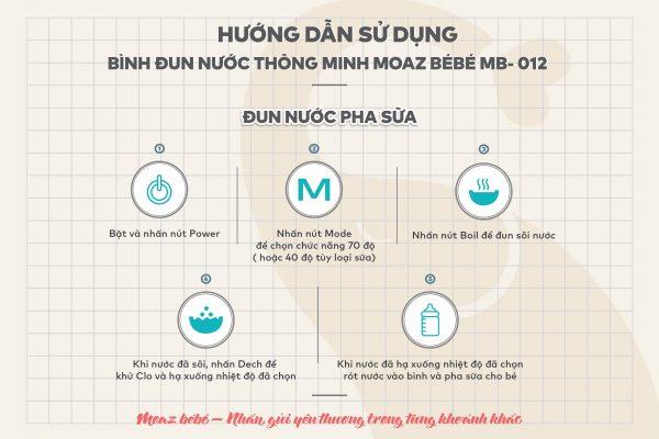 Hướng dẫn sử dụng bình đun nước pha sữa Moaz Bebe MB012